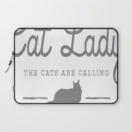 Crazy Town Cat Lady Laptop Sleeve