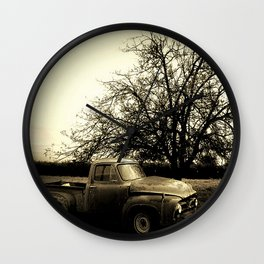When That Old Ford Waited for Another Drive Wall Clock