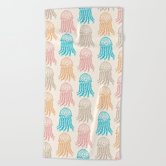 Pastel Marine Pattern 02 Beach Towel