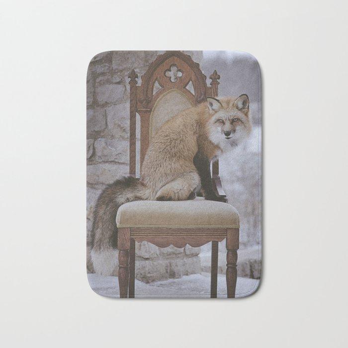 Fox on a Throne Bath Mat