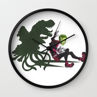 teen titans Wall Clocks featuring Teen Titans: Beast Boy by JaDis