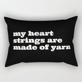 heart of yarn Rectangular Pillow