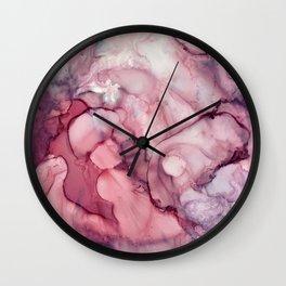 Liquid Mauve Abstract Wall Clock