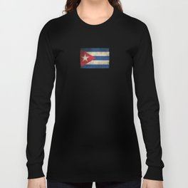Old and Worn Distressed Vintage Flag of Cuba Long Sleeve T-shirt