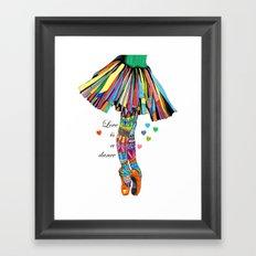 LOVE IS A DANCE Framed Art Print