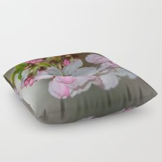 Bee & Cherry Blossoms Floor Pillow
