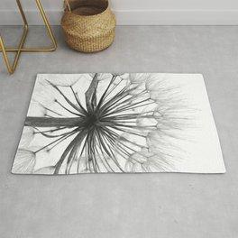 Black and White Dandelion Rug