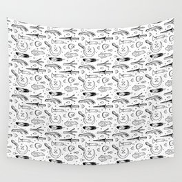Accoutrements - white Wall Tapestry