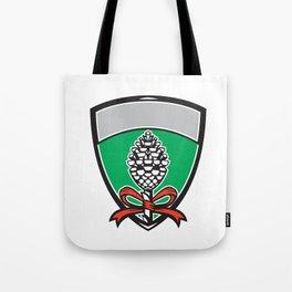 Thyrsus Pine Cone Staff Leaves Crest Retro Tote Bag