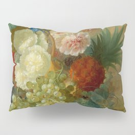 "Jan van Os ""Still life of peonies, a cock's comb and morning glories"" Pillow Sham"