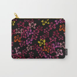 Tropical Orchid Print Carry-All Pouch