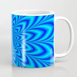 Star Flower in Shades of Blue Coffee Mug