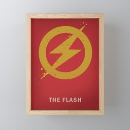 The Flash Artwork Framed Mini Art Print
