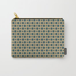 Two Color Circles V (dots) Carry-All Pouch