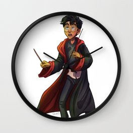 Harry Potte Digital Drawing Gryffindor Wall Clock