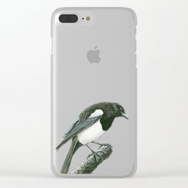 Magpie ink painting Clear iPhone Case