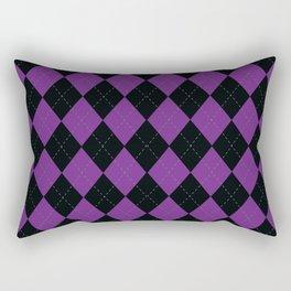 Argyle -Purple Rectangular Pillow