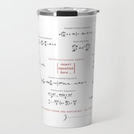 High-Math Inspiration 01 - Red & Black Travel Mug