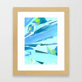 Glass Geometry Light Blue Framed Art Print