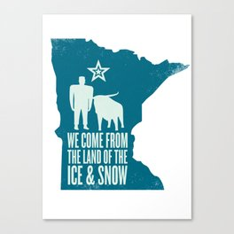Minnesota: Ice & Snow Canvas Print