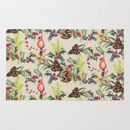 Repeating Pinecone Pattern Rug