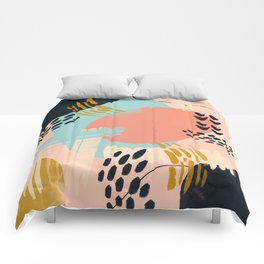 Brushstrokes abstract art Comforters