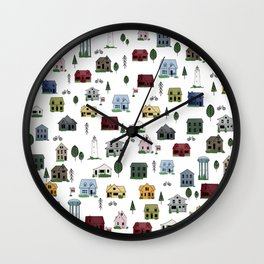 Collingwood Houses Wall Clock