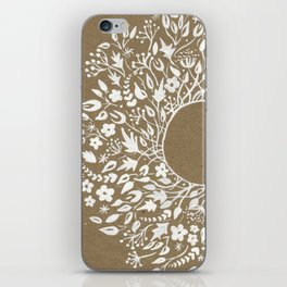 white lace flower frame iPhone Skin