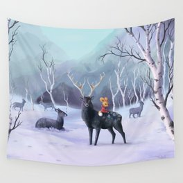 fox and deer Wall Tapestry