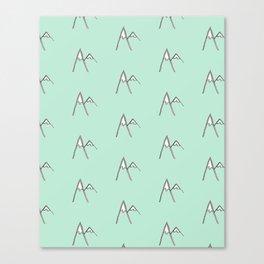 Mint Peaks Canvas Print