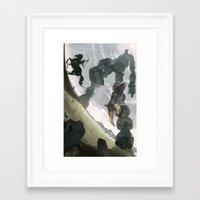 shadow Framed Art Prints featuring Shadow by Chad Gowey