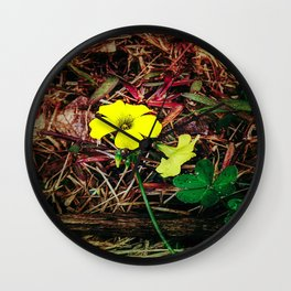 Only when there is sun Wall Clock