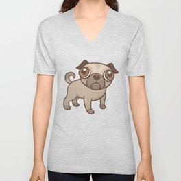 Pug Puppy Cartoon Unisex V-Neck