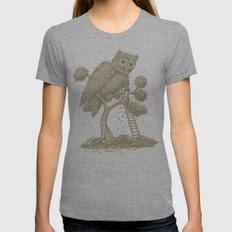 The Night Gardener (Colour Option) Tri-Grey Womens Fitted Tee SMALL