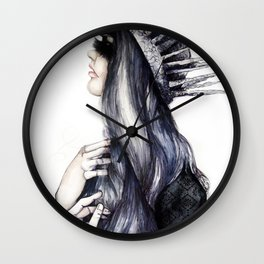 Ice Queen // Fashion Illustration Wall Clock