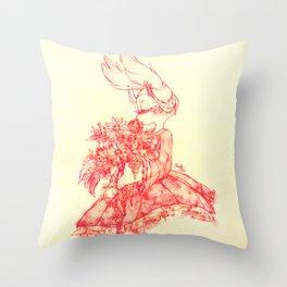 Flower Bun Throw Pillow