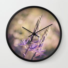 Purple Lupine Wall Clock