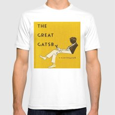 The Great Gatsby Mens Fitted Tee White MEDIUM