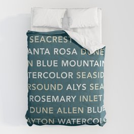 30A Communities (Dark) V2 Comforters