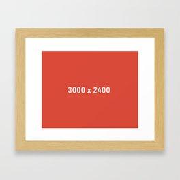 3000x2400 Placeholder Image Artwork (Google Plus Red) Framed Art Print