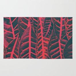 Red leaves Rug