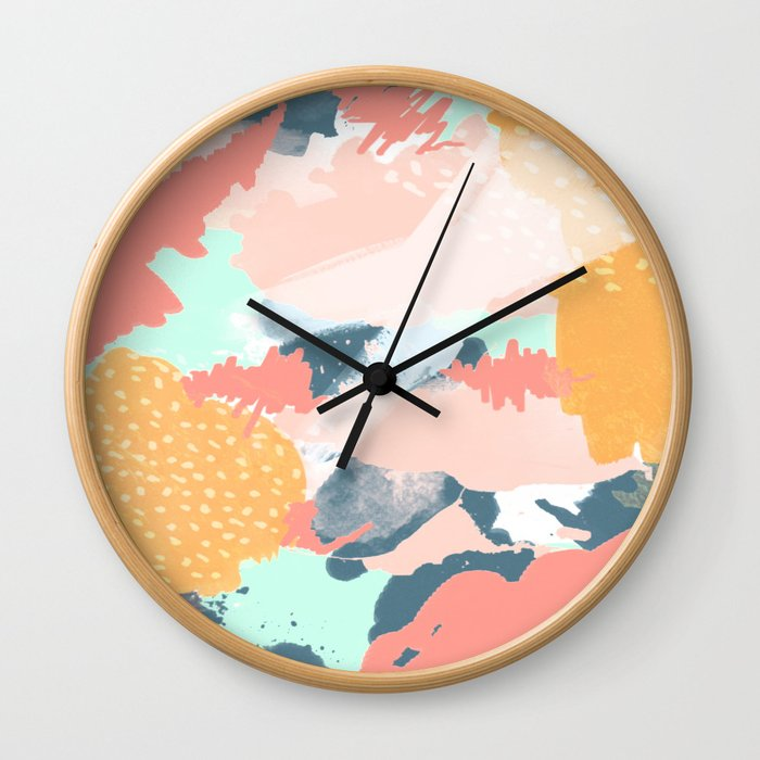 Painted Pattern Wall Clock