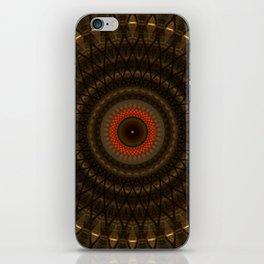 Dark mandala with red ring iPhone Skin