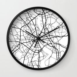 COLOGNE GERMANY BLACK CITY STREET MAP ART Wall Clock
