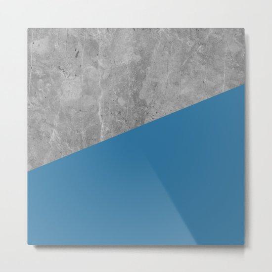Geometry 101 Saltwater Taffy Teal Metal Print
