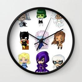 Chibi Heroines Set 1 Wall Clock