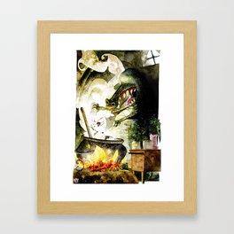 Alligator witch Framed Art Print