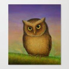 Mountain Scops Owl Canvas Print