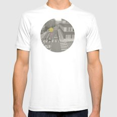 Dots//Seventeen  White Mens Fitted Tee MEDIUM