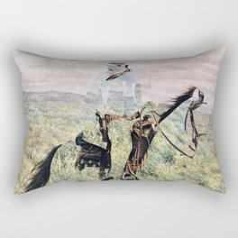 The Unknown Rider in Death Rides The Pecos Rectangular Pillow